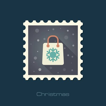 christmas shopping bag: Christmas Shopping bag stamp.