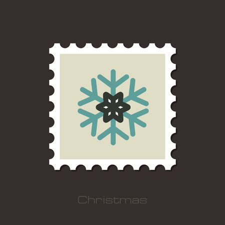 lightweight ornaments: Modern Snowflake flat stamp, vector illustration eps 10 Illustration