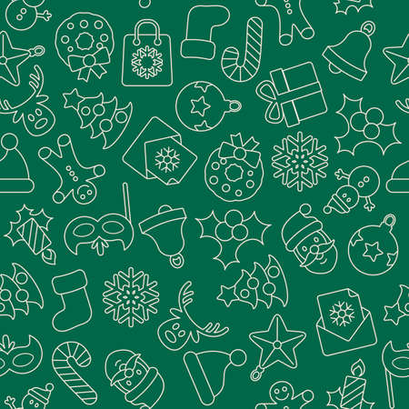 tiling: Christmas background, seamless tiling, great choice for wrapping paper pattern