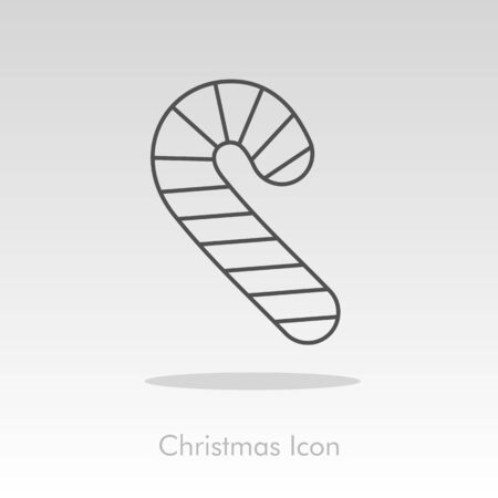 christmas candy: Christmas Candy Cane icon, vector illustration