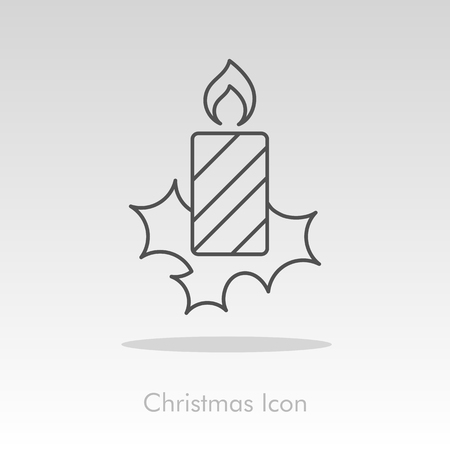 advent candles: Christmas candle icon, vector illustration