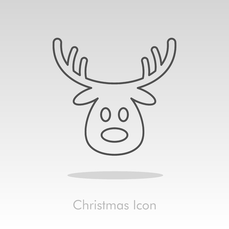 christmas icon: Christmas reindeer icon, vector illustration  Illustration
