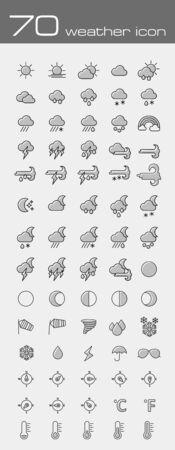meteorology: Meteorology Weather icons set