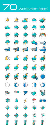 blizzards: Meteorology Weather icons set