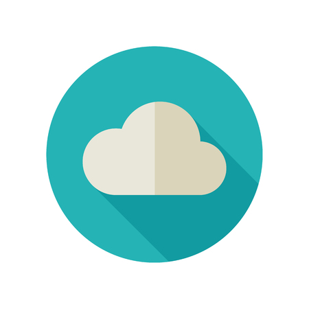 meteorology: Cloud flat icon Meteorology. Illustration