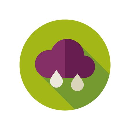 meteorology: Rain Cloud flat icon Meteorology. Illustration