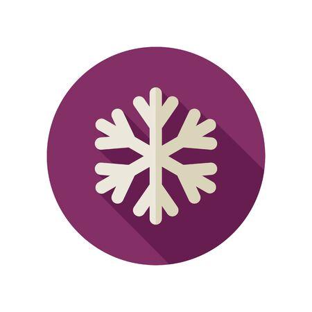 meteorology: Snowflake Snow flat icon. Meteorology.