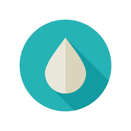 rain drop: Water Rain Drop flat icon. Meteorology.