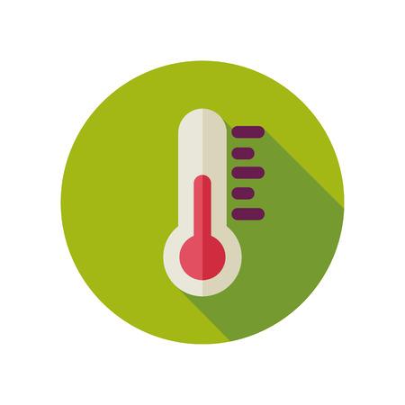 meteorology: Thermometer flat icon. Meteorology. Illustration