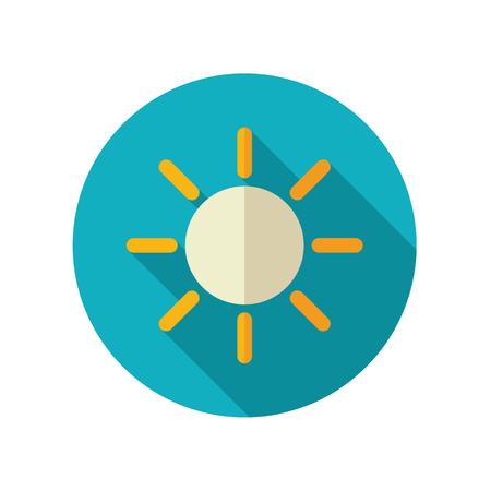 meteorology: Sun flat icon. Meteorology. Weather.