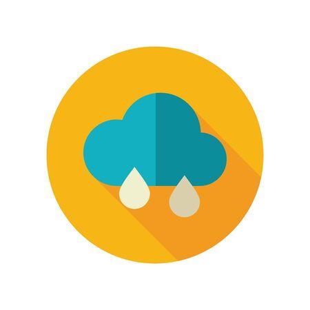meteorology: Rain Cloud flat icon. Meteorology. Weather.