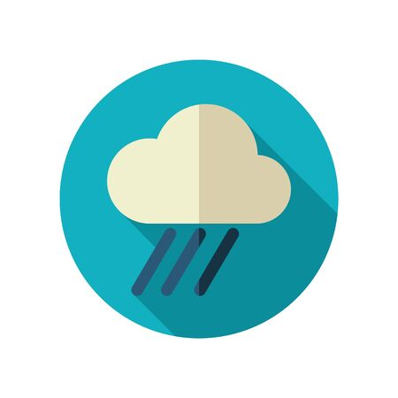 rainfall: Rain Cloud flat icon. Downpour, rainfall. Illustration