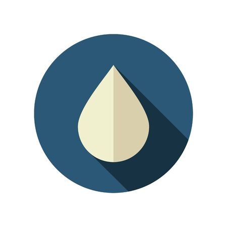 clean blood: Water Rain Drop flat icon. Meteorology. Weather. Vector illustration eps 10