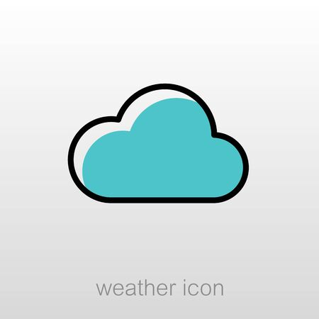 meteorology: Cloud outline icon. Meteorology. Weather. Vector illustration eps 10