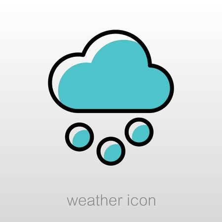 meteorology: Cloud with Snow Grain outline icon. Meteorology. Weather. Vector illustration
