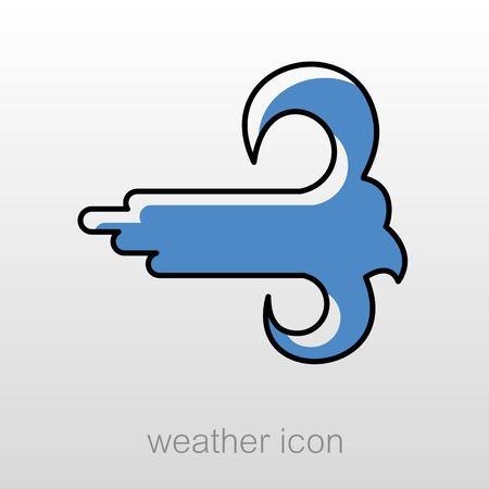 meteorology: High Wind outline icon. Meteorology. Weather. Vector illustration eps 10