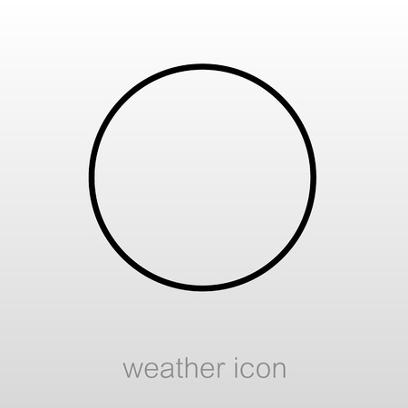 New Moon outline icon. Sleep night dreams symbol. Meteorology. Weather. Vector illustration eps 10