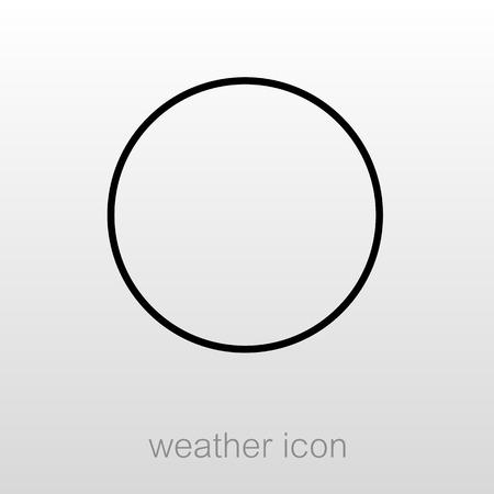 Nuevo icono del contorno de la luna. noche de sueño sueños símbolo. Meteorología. Clima. ilustración vectorial eps 10