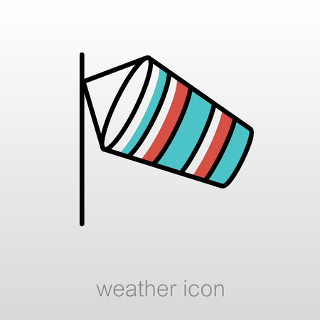 airport runway: Windsocks hanging at the airport runway. Meteorology. Weather. Vector illustration eps 10 Illustration