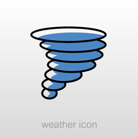 whirlwind: Tornado Whirlwind outline icon. Meteorology. Weather. Vector illustration eps 10