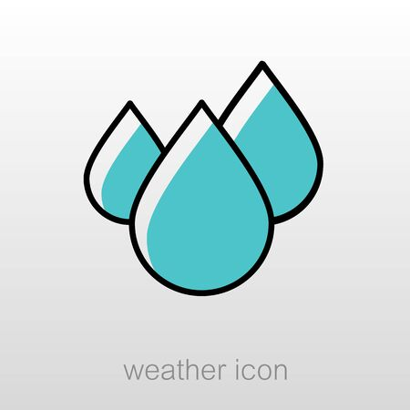 rain drop: Water Rain Drop outline icon. Meteorology. Weather. Vector illustration eps 10