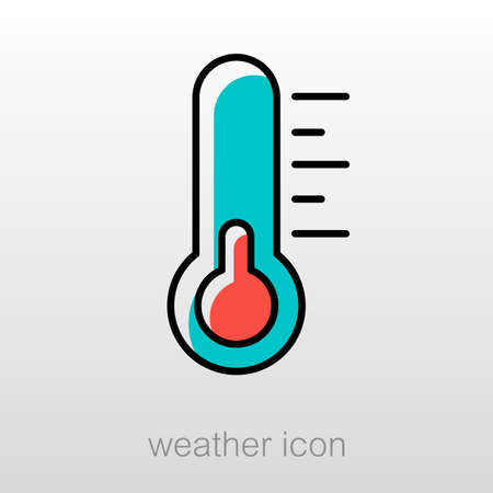 meteorology: Thermometer outline icon. Meteorology. Weather. Vector illustration eps 10