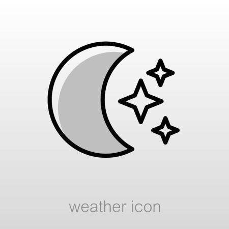 Moon And Stars Outline Icon Sleep Night Dreams Symbol Meteorology