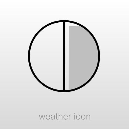half moon: Half Moon outline icon. Sleep night dreams symbol. Meteorology. Weather. Vector illustration Illustration