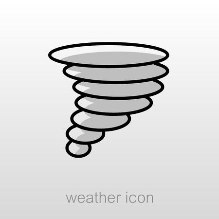 whirlwind: Tornado Whirlwind outline icon. Meteorology. Weather. Vector illustration