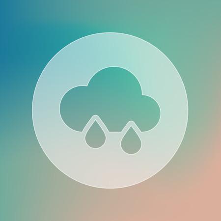 meteorology: Rain Cloud transparent icon. Meteorology. Weather. Vector illustration eps 10