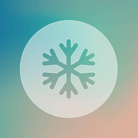 meteorology: Snowflake Snow transparent icon. Meteorology. Weather. Vector illustration eps 10
