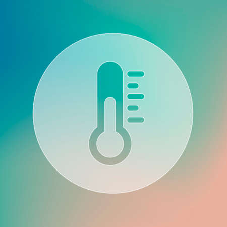 meteorology: Thermometer transparent icon. Meteorology. Weather. Vector illustration eps 10