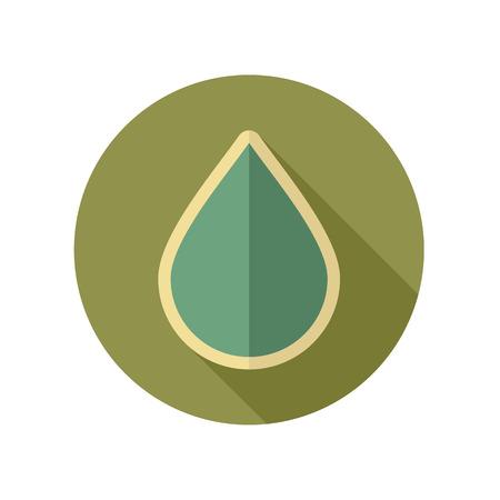 rain drop: Water Rain Drop retro flat icon. Meteorology. Weather. Vector illustration eps 10 Illustration