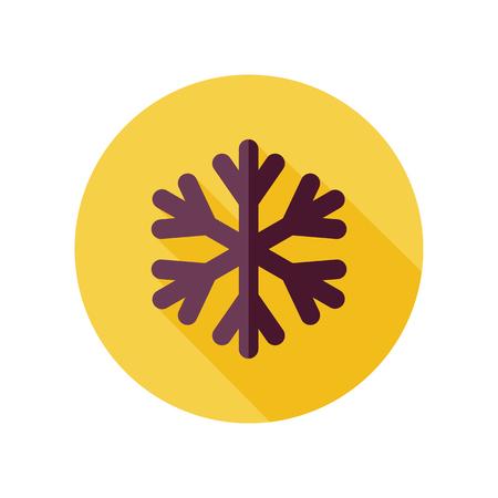 meteorology: Snowflake Snow flat icon. Meteorology. Weather. Vector illustration