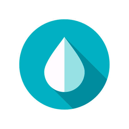 rain drop: Water Rain Drop flat icon. Meteorology. Weather. Vector illustration