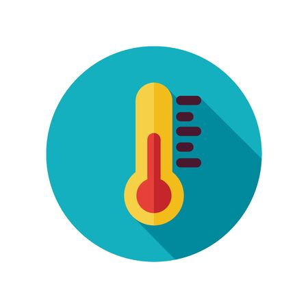 meteorology: Thermometer flat icon. Meteorology. Weather. Vector illustration
