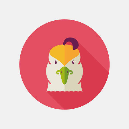 animal head: Quail flat icon. Animal head vector symbol