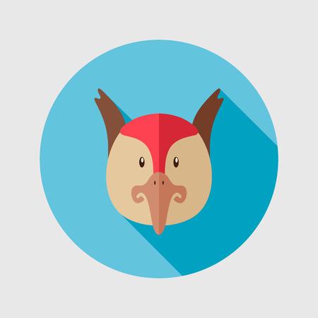 animal head: Pheasant flat icon. Animal head vector illustration,