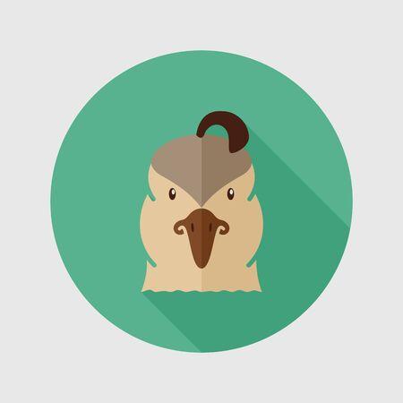 Quail flat icon. Animal head vector symbol Imagens - 53375957
