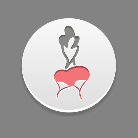 radish: Radish icon. Vegetable vector illustration,