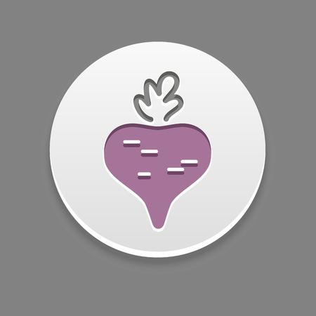beet: Beet icon. Vegetable vector illustration,