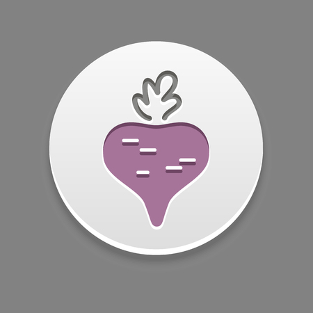 remolacha: icono de la remolacha. ilustraci�n vectorial vegetal,