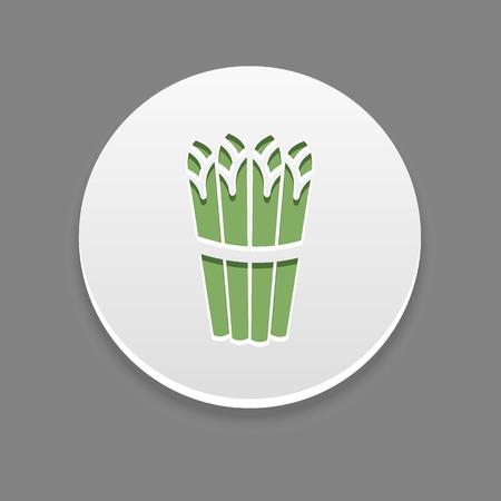 Spargel-Symbol. Gemüse Vektor-Illustration,