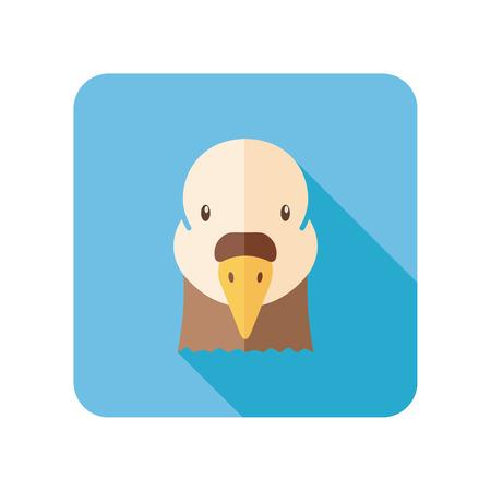 animal head: Dove flat icon. Animal head vector symbol