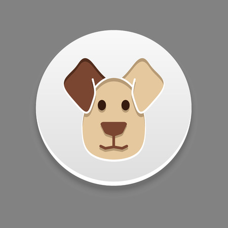 lick: Dog icon. Farm animal vector illustration Illustration