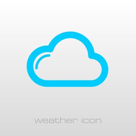 meteorology: Cloud outline icon. Meteorology. Weather. Vector illustration Illustration