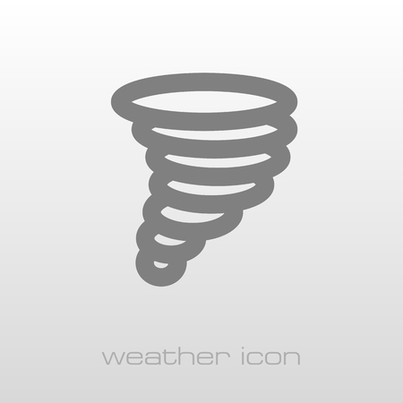 whirlwind: Tornado Whirlwind outline icon. Meteorology. Weather. Vector illustration