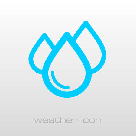 rain drop: Water Rain Drop outline icon. Meteorology. Weather. Vector illustration