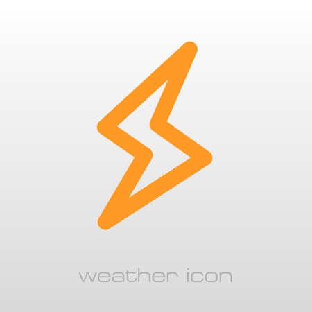 lightning speed: Lightning outline icon. Meteorology. Weather. Vector illustration