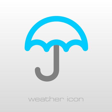 meteorology: Umbrella Rain outline icon. Meteorology. Weather. Vector illustration